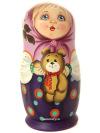 Набор матрешек Машенька с мишкой, арт. 5998Набор из 5 штук.&#13;<br>Высота - 14 см.<br>