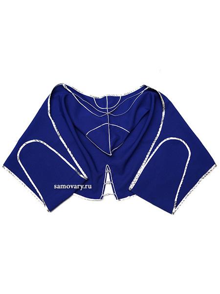 Башлык из габардина синего цветаОстроконечный капюшон с двумя длинными концами.&#13;<br>Ткань - габардин.<br>