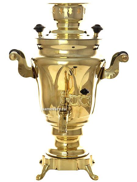 Электрический самовар 1,5 литра желтый тюльпан с термовыключателем, арт. 111601Самовары электрические<br>Латунный самовар.&#13;<br>Оборудован термовыключателем, предохраняющим тэн от сгорания при выкипании воды.<br>