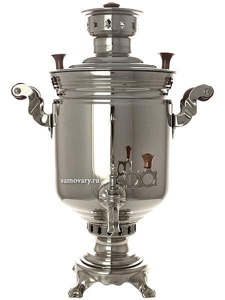 Комбинированный самовар 5 литров никелированный цилиндр, арт. 331011Самовар комбинированный никелированный цилиндр.&#13;<br>Труба для отвода дыма в комплекте.<br>