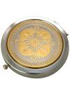 Позолоченное зеркало с гравюрой Греческие мотивы ЗлатоустЗеркало подарочно-сувенирное позолоченное с гравюрой.&#13;<br>Упаковано в стильную дизайнерскую коробку.&#13;<br>Ручная работа.<br>
