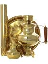 Угольный самовар-чайник 2 литра латунный в комплекте с трубой, чайником и подносом, арт. 220551Подарочный комплект: угольный самовар на 2 литра, поднос, заварочный чайник и труба.&#13;<br>Набор изготовлен из латуни.<br>