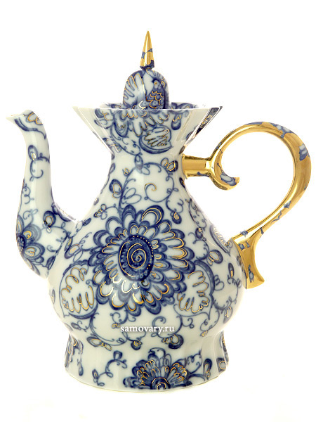 Чайник заварочный форма Шатровая, рисунок Поющий сад, Императорский фарфоровый заводФарфоровый чайник.<br>Объем - 1100 мл.<br>