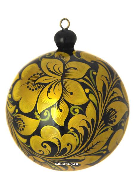 Новогодний шар ХохломаУкрашение для новогодней елки&#13;<br>Диаметр - 7 см.<br>