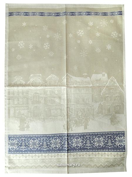 Полотенце Новогоднее бежевое без кружева, 50х70Размер полотенца - 50*70 см. &#13;<br>Хлопок, лен.<br>