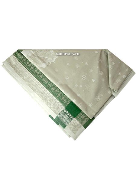 Скатерть Зима зеленая без кружева, 150х250Размер скатерти 150*250 см. <br>Хлопок, лен.<br>
