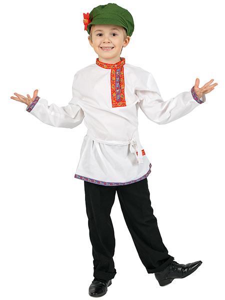 Косоворотка для мальчика льняная белая, 7-12 летТрадиционная русская рубаха с косым воротом.<br>Возраст от 7 до 12 лет.<br>