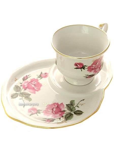 Набор подарочный из чашки и блюдца форма Весенняя рисунок Глория, ДулевоЧашка с блюдцем на 1 персону.&#13;<br>Объем - 250 мл.<br>