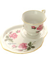 Набор подарочный из чашки и блюдца форма Весенняя рисунок Глория, Дулевский фарфорЧашка с блюдцем на 1 персону.&#13;<br>Объем - 250 мл.<br>