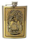 Позолоченная фляжка с гравюрой Сварог - славянский бог в подарочном футляре ЗлатоустСувенирная позолоченная фляжка с гравировкой станет прекрасным подарком для мужчины.&#13;<br>Упакована в стильную дизайнерскую коробку.&#13;<br>Ручная работа.<br>