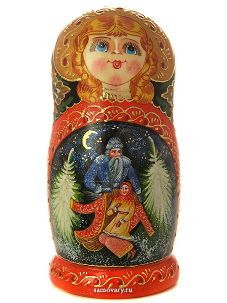 Набор матрешек Морозко, серия Сказки, арт. 538Набор из 5 штук. &#13;<br>Высота - 16 см.<br>