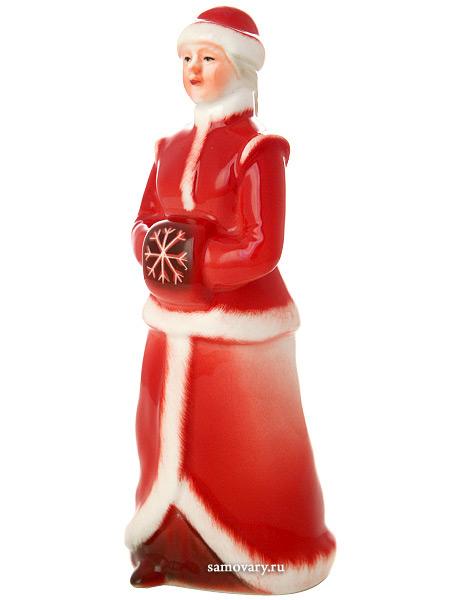 Скульптура Снегурка, рисунок Красный нос, Императорский фарфоровый заводФарфоровая сувенирная фигурка из серии Новогодние подарки.<br>
