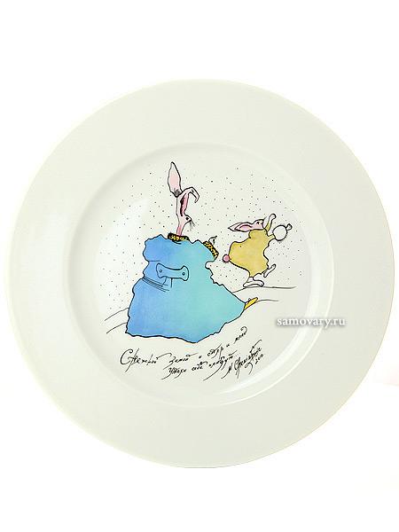 Подарочный набор декор, форма Mazarin, рисунок Зимние потехи. Снежной зимойПодарочная тарелка в фирменном футляре.&#13;<br>Автор рисунка - М.Шемякин, серия Мир капель.<br>