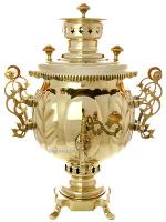 Самовар комбинированный 4,5 литра желтый шар