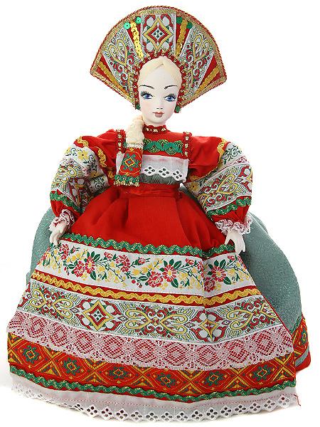 Кукла на чайник Василиса, арт. 26Кукла тряпичная декоративная на заварочный чайник.<br>