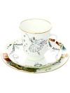Комплект кофейный: чашка и два блюдца форма Майская, рисунок Балет Жизель, Императорский фарфоровый заводПодарочный фарфоровый комплект - чашка и два блюдца.&#13;<br>Объем чашки - 165 мл.<br>