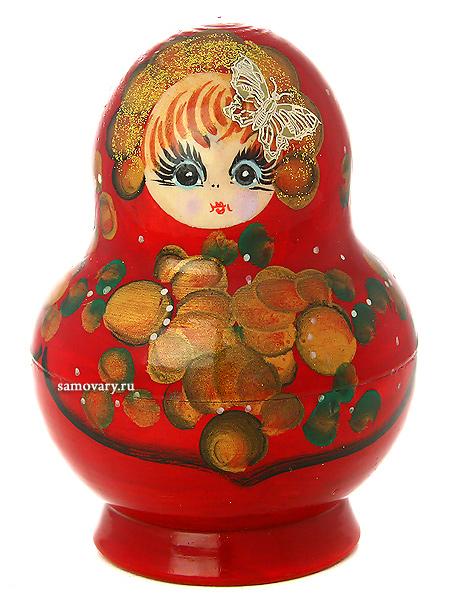 Набор матрешек Русская красавица, пузатая, арт. 129Набор из 10 штук.<br>Высота - 13 см.<br>