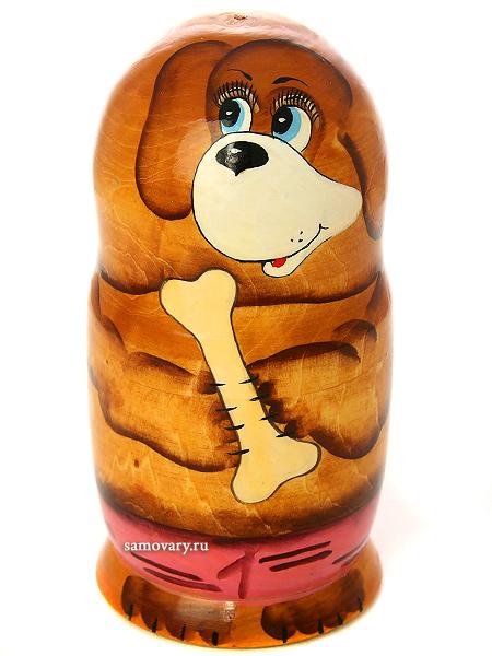 Набор матрешек Собачка, серия Животные, арт. 5278Набор из 5 штук.<br>Высота - 16,5 см.<br>