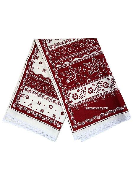 Полотенце бордовое с кружевом, 45х75Размер полотенца - 45*75 см.&#13;<br>Хлопок 100%. 1 Сорт.<br>