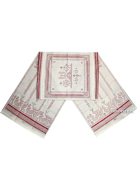 Дорожка розовая, рушник для каравая Артель с кружевомРазмер дорожки - 45*190 см. <br>Хлопок 100%. 1 Сорт.<br>