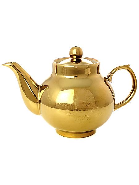 Чайник заварочный керамический под золото для самовараКерамический чайник для заваривания чая.&#13;<br>Объем - 500 мл.<br>