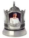 Никелированный подстаканник Сталин Кольчугинский заводЛатунный подстаканник с никелированным покрытием.<br>