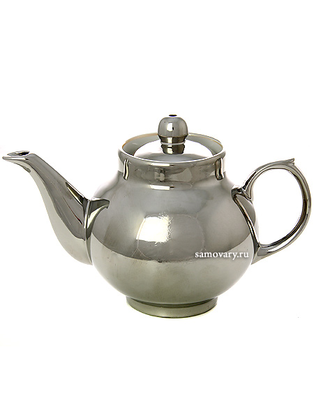 Чайник заварочный керамический под серебро для самовараКерамический чайник для заваривания чая.&#13;<br>Объем - 500 мл.<br>