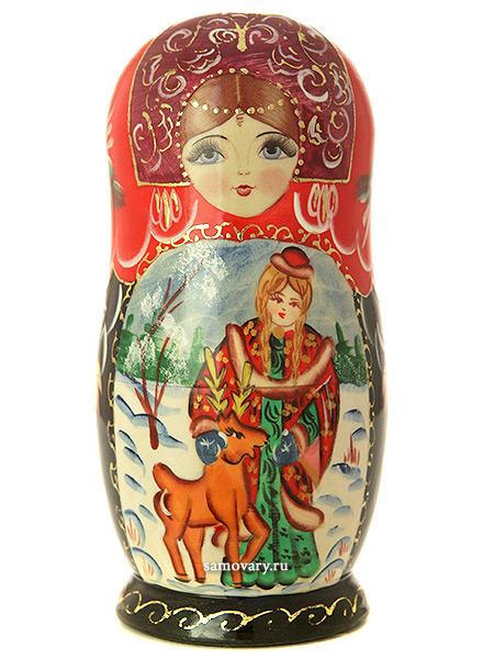 Набор матрешек Снегурочка, серия Сказки, арт. 537Набор из 5 штук. &#13;<br>Высота - 16 см.<br>