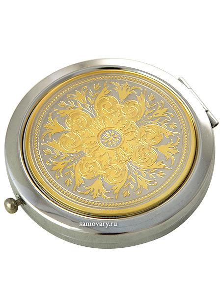 Позолоченное зеркало с гравюрой Ренесанс ЗлатоустЗеркало подарочно-сувенирное позолоченное с гравюрой.<br>Упаковано в стильную дизайнерскую коробку.<br>Ручная работа....<br>