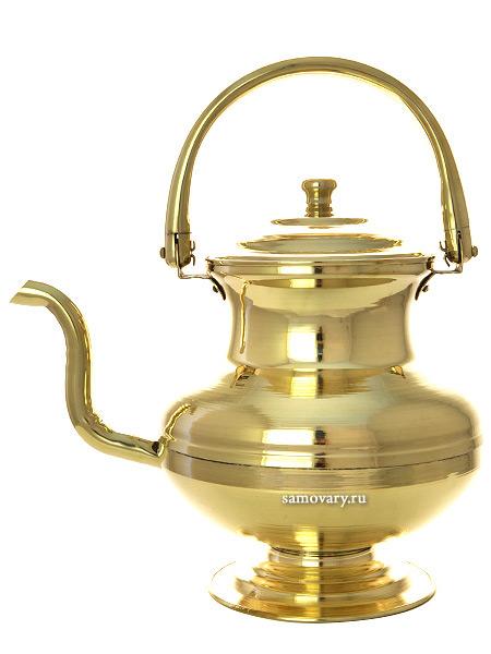 Латунный чайник Москва 2,5 лЧайник из латуни.&#13;<br>Объем - 2500 мл.<br>