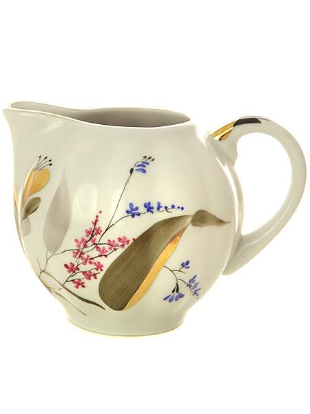 Сливочник форма Тюльпан, рисунок Розовые тюльпаны, Императорский фарфоровый заводФарфоровый сливочник.&#13;<br>Объем - 350 мл.<br>
