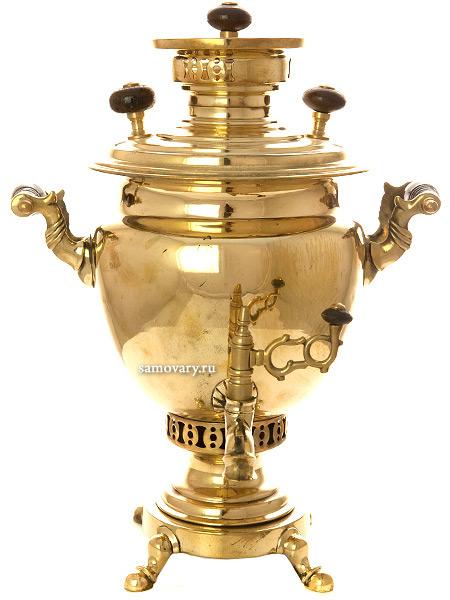 Угольный самовар 2 литра желтый ваза, ТД Аленчиков и Зимин, арт. 480556Латунный самовар.  &#13;<br>Отреставрирован тульскими мастерами и готов к эксплуатации.<br>