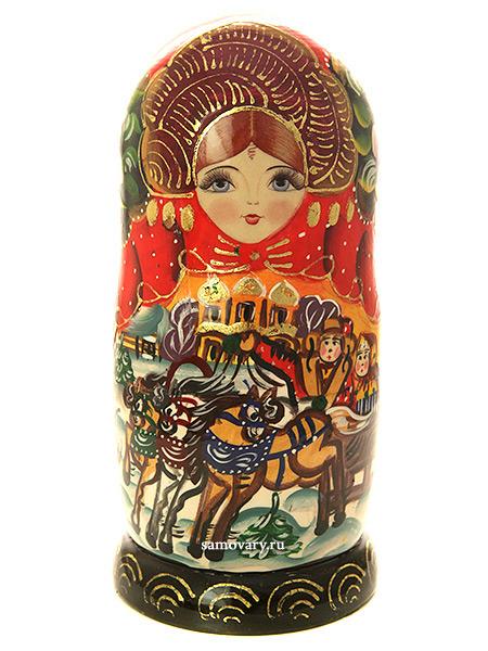 Набор матрешек Тройка зимняя, серия Сказки, арт. 7174Набор из 7 штук. &#13;<br>Высота - 20 см.<br>