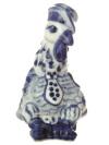 Скульптура Петушок в галстуке Гжель, автор Жигунов А.Символ 2017 года.&#13;<br>Высота 10,5 см.<br>