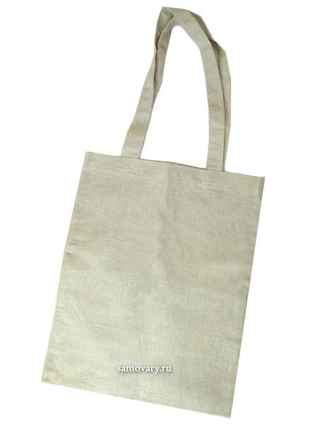 Сумка Серый лен, 32х42Хлопковая сумка на петлевых ручках<br>