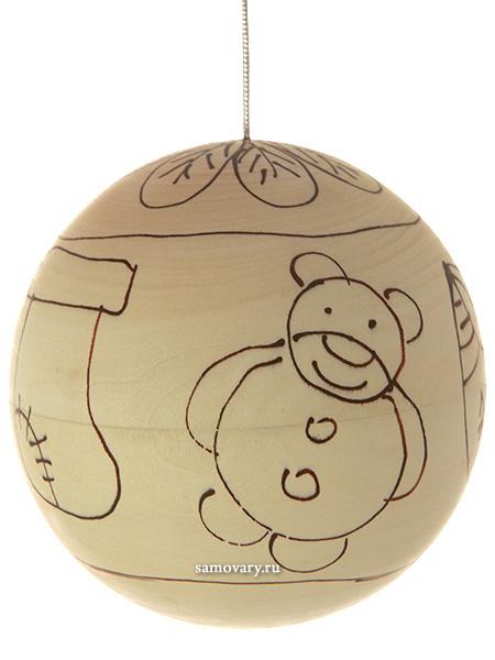 Набор для творчества Новогодний шар в комплекте с краскамиНабор для творчества.<br>Готовый рисунок по трафарету. Краски и кисточка в комплекте.<br>