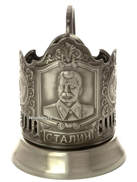 Никелированный Кольчугинский подстаканник СталинЛатунный подстаканник с никелированным покрытием.<br>