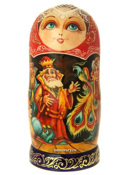 Набор матрешек Конек Горбунок, серия Сказки люкс, масло, арт. 514Набор из 5 штук. &#13;<br>Высота - 16 см.<br>
