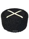 Кубанка из натурального черного каракуля станично-бытовая, серебристое перекрестиеГоловной убор из натурального каракуля.&#13;<br>Размеры от 55 до 61.<br>