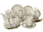Дулевский чайный сервиз форма Белый Лебедь рисунок Конфетти 6/21Сервиз из фарфора.&#13;<br>6 персон.<br>