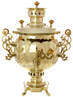 Самовар на дровах желтый шар 4,5 литра