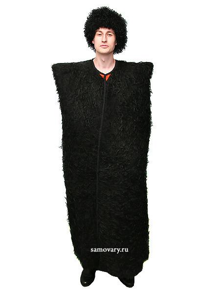 Бурка черная из натуральной овчиныМатериал - овечья шерсть.&#13;<br>Цвет черный.<br>