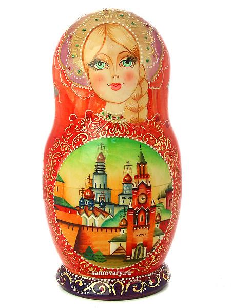 Набор матрешек Москва, арт. 76Набор из 7 штук.<br>Высота - 21 см.<br>