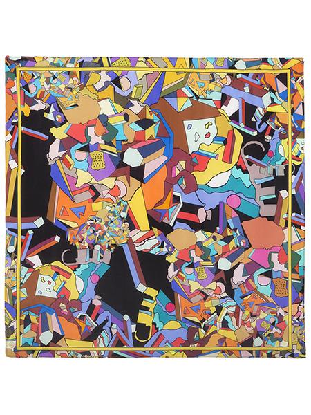Шелковый Павлопосадский платок В лабиринте снов 89*89 см, арт. 10061-18Платок шелковый (крепдешин).&#13;<br>Размер 89х89 см.<br>