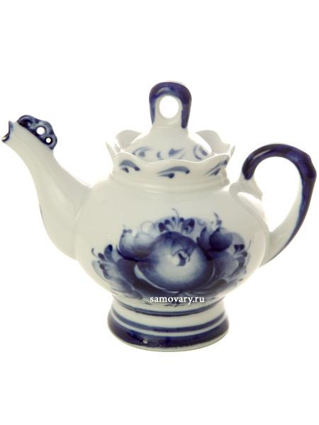 Чайник заварочный керамический Гжель Подарочный малыйЧайник керамический с ручной росписью.<br>