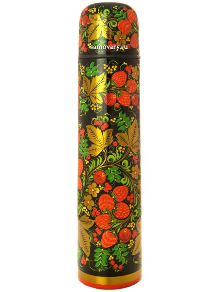 Термос для чая Хохлома в ассортиментеТермос с ручной росписью&#13;<br>Объем 1 литр<br>