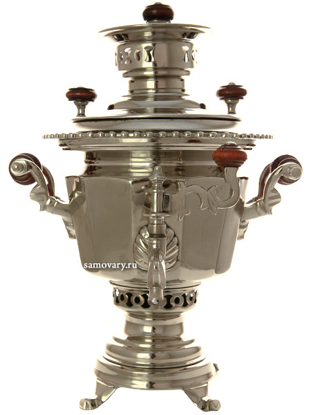 Самовар на дровах 1,5 литра никелированный фабрика Н.А.Воронцова, арт. 460613 Тула