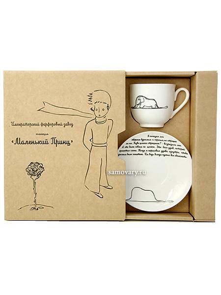Подарочный набор: кофейная чашка с блюдцем, форма Ландыш, рисунок Слон, Императорский фарфоровый завод (ЛФЗ)Фарфоровая кофейная чашка с блюдцем Слон, форма Ландыш.&#13;<br>Объем чашки - 180 мл.<br>