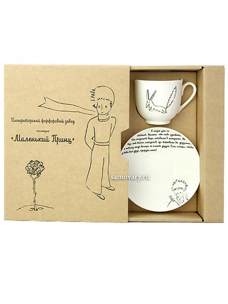 Подарочный набор: кофейная чашка с блюдцем, форма Ландыш, рисунок Лис, Императорский фарфоровый заводФарфоровая кофейная чашка с блюдцем Лис, форма Ландыш.&#13;<br>Объем чашки - 180 мл.<br>