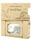 Подарочный набор: туалетная коробочка из фарфора Удав, форма Граненая, Императорский фарфоровый заводТуалетная коробочка фарфоровая.<br>